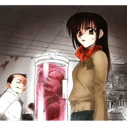 Микагэ в лаборатории Миябу