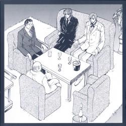 Крашерс II - Ран и Конь в VIP-комнате с Сакатой и Кагавой